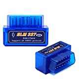 Super Mini ELM327 V1.5 Bluetooth With PIC1825K80 OBD2 Diagnostic Tool ELM 327 V1.5 Bluetooth(Blue)
