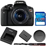 Canon EOS Rebel 750D / T6i Digital SLR with EF-S 18-55mm IS STM Lens - Wi-Fi Enabled + 16GB SD Memory Card