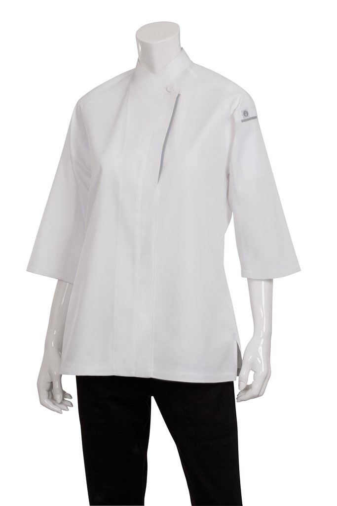 Chef Works Mens Verona V-Series Chef Coat, White, Large by Chef Works