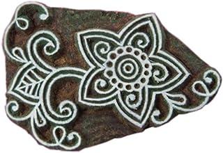Blockwallah Exotic Flower Wooden Block Stamp