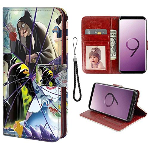 (DISNEY COLLECTION Samsung Galaxy S9 Phone Wallet Case (2018) (5.8 Version) Disney Reverse Character Credit Card Clip)