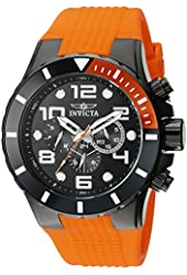Invicta Men's 18742 Pro Diver Analog Display Swiss Quartz Orange Watch