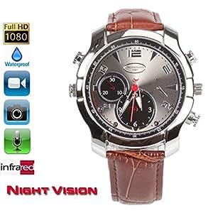 fannuoyi Waterproof Smart Watch Camera Full HD 1920x1080P IR Night Vision Mini Camera DVR (built in 16GB)