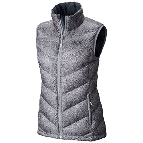 Mountain Hardwear Ratio Printed Down Vest - Women's Steam Medium (Mountain Vest Womens Hardwear)