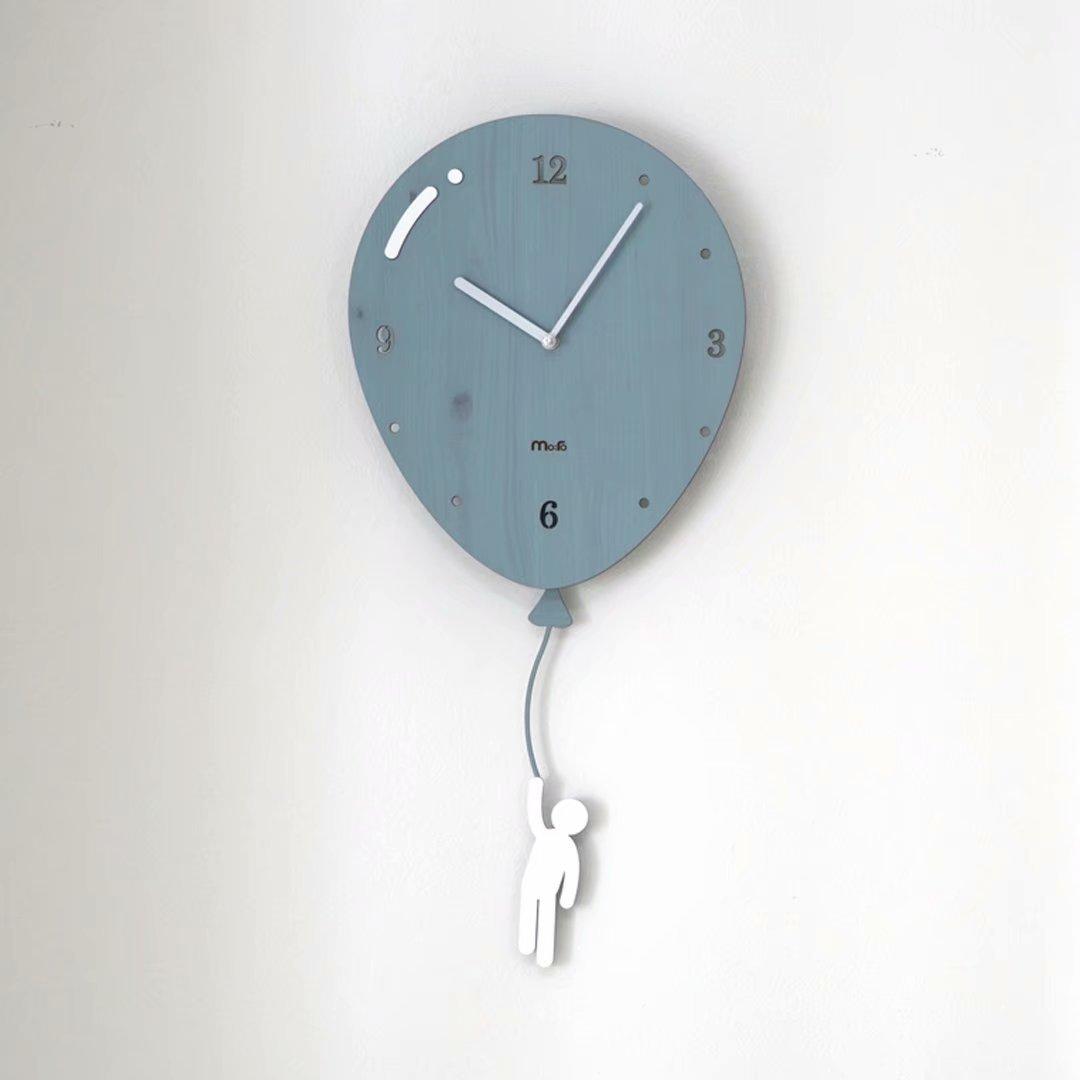 バルーン リビング シンプル おしゃれ 掛時計 壁掛け 掛け時計 子ども部屋 シズネ 創意 時計 欧風 個性 水晶時計 ブルー SFANY B07DXH4QN2ブルー