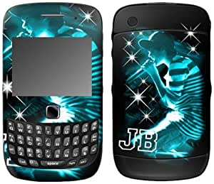 MusicSkins, MS-JB130211, Justin Bieber - Sparkle Blue, BlackBerry Curve 3G (9300/9330), Skin