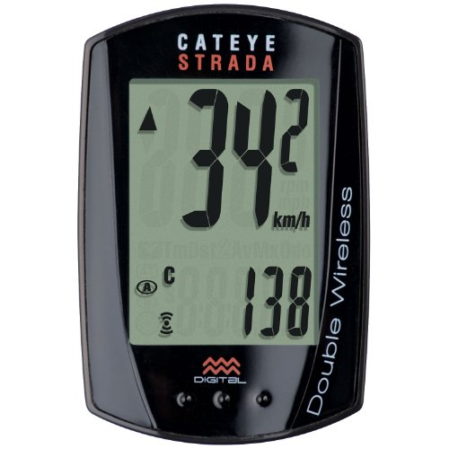 CatEye Strada Double Wireless Speed and Cadence Bicycle Computer (Double Wireless Cycle Computer)