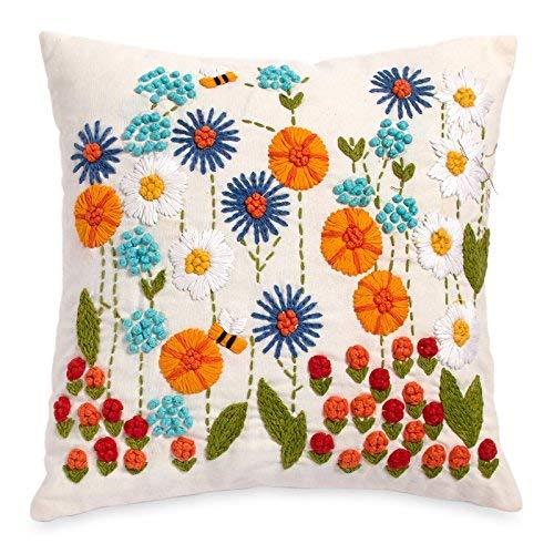 The Pioneer Woman Ree's Garden 16x16 Decorative Pillow [並行輸入品] B07R82MXLK