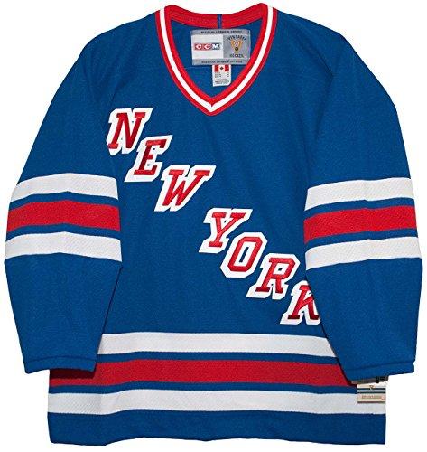 Vintage New York Rangers 1978-1987 Road Blue CCM Jersey (1983 Road Jersey)