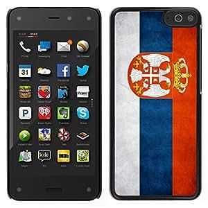 LECELL--Funda protectora / Cubierta / Piel For Amazon Fire Phone -- Nacional bandera de la nación País Serbia --