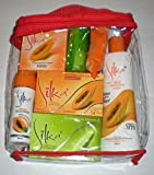 silka cream - Silka Papaya Bath & Beauty 7 pc Set in Beauty Pouch Natural Herbal Skin Whitening Anti-Aging