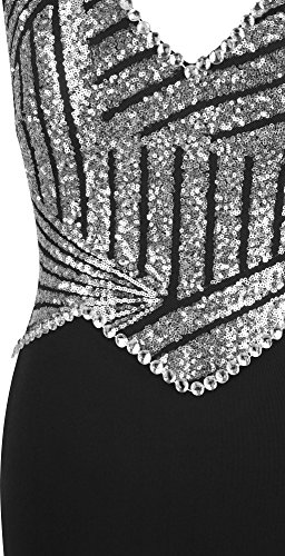 Neck fashions Silver paillettes Angel robe Femme longue V perles gaine sirene dSvdtWq