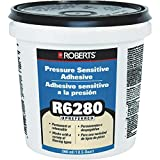 Roberts R6280-0 Adhesive for the Interior Installation Back Commercial Carpet Cushion, Fiberglass Reinforced Sheet Luxury Vinyl Tiles, 1 Quart
