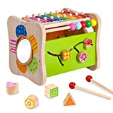 Life&Fun Kids Initiation Musical Toy Wooden 3 in 1...
