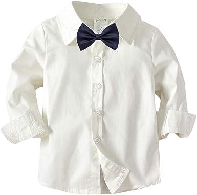 H&E - Camisa - Manga Larga - para niño: Amazon.es: Ropa y accesorios