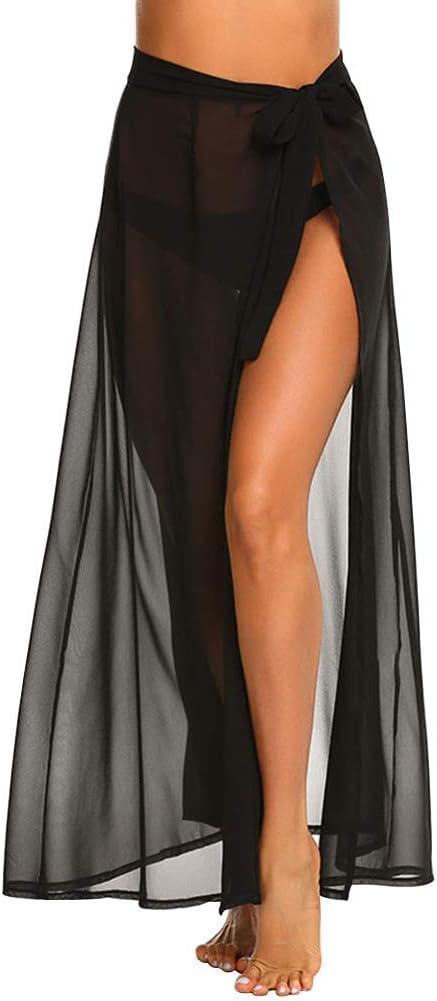 GCDN Mujer Falda Playa, Sexy Moda Verano Vestido Pareo Sólido ...