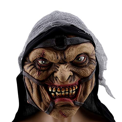 Latex Halloween Mask - Creepy Scary Halloween Cosplay Costume Mask Horror Prop - Party Decorations Party Decorations Clown Mask Latex Halloween Hallowen Scary Creepy Funny Monster Terrible -
