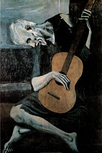 Pablo Picasso (Old Guitarist) Art Print Poster - 24x36 for sale  Delivered anywhere in Canada
