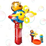 iPlay, iLearn Automatic Bubble Machine Gun, Bubble Blower Set with Solution, Baby Outdoor Shooter, Toys in Park, Garden, Party, Birthday Gift for Ages 2, 3, 4, 5 Year Olds Kids, Girls, Boys