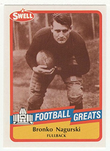 Bronko Nagurski (Football Card) 1989 Swell Football Greats # 15 Mt