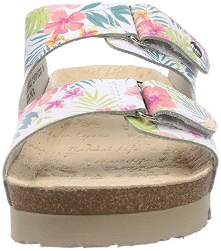 Panama Jack Bahamas Tropical B1, Women's Sandals White (Blanco/White)