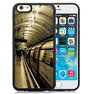 Beautiful Unique Designed iPhone 6 4.7 Inch TPU Phone Case With Tube Transport London Subway Metro_Black Phone Case