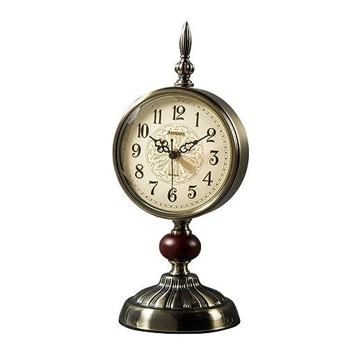 MWPO Reloj de péndulo Grande de Adornos de Cobre, Reloj de Mesa ...