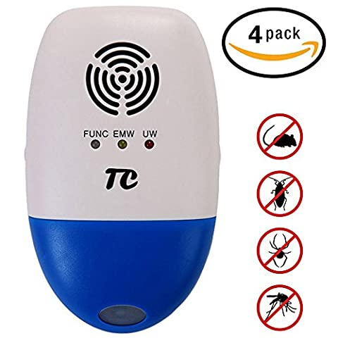 Ultrasonic Pest Control Against Mouse,TC Joy Electronic Pest Repellent Plug in Multi-functional Intelligent,Indoor and Outdoor - Ortho Garden Disease Control
