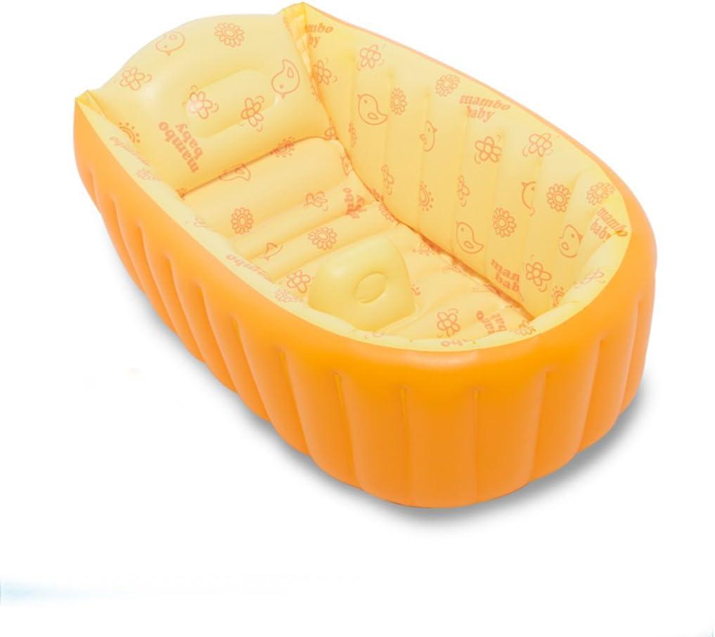AJZGF Nome prodotto: Vasca da bagno per bambini Materiale: PVC Dimensioni: 90 * 45 * 28 cm. Peso: 2 kg Età applicabile: tre anni Funzione: Born baby special. Bathtub