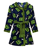 Minecraft All Over Creeper Boys Bathrobe Kids Dressing Gown Night Robe (10 Years)