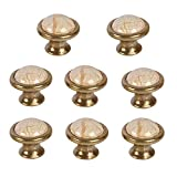 Yishik Set of 8 Door Knobs and Handles for Chest of Drawers Ceramic Cabinet Knobs and Pulls Large