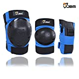 JBM Inline & Roller Skate Protective Gear for Multi Sport Skateboarding, Scootering, Bmx, Biking, Cycling (Blue, Adult)