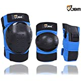 JBM Inline & Roller Skate Protective Gear for Multi Sport Skateboarding, Scootering, Bmx, Biking, Cycling (Blue, Youth)