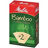 melitta cone 2 - Melitta Cone Coffee Filters No. 2 Natural Bamboo 80 Count