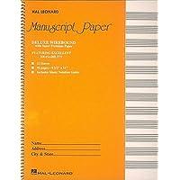 Deluxe Wirebound Super Premium Manuscript Paper Gold Cover
