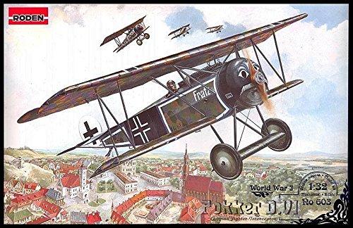 FOKKER D.VI GERMAN AIRCRAFT PLANE WWI 1/32 RODEN 603