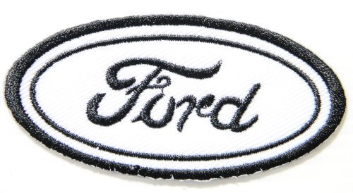 Aluminum Oval Mufflers (Ford Logo Sign Motorsport Car Racing Patch Sew Iron on Applique Embroidered T shirt Jacket Suit Custom BY SURAPAN)