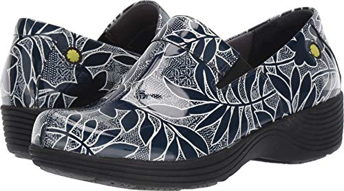 (Dansko Women's Coral Clog, Navy Floral Patent, 40 M EU (9.5-10 US))