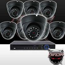 Ninja 4 Megapixel IP Eyeball Dome Camera 8 CH Kit