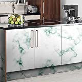 Cupboard Adhesive Stickers Wall Decal Panel DIY Kitchen Bathroom Decor Covering for Bedstand Desktop Floor Wallpaper, [1 Roll:23.4x117 inches ]