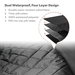 Dog Seat Cover with Double Layer Waterproof, TaoTronics Pet Seat Cover, Dog Car Seat Covers, Dog Hammock, Slip-proof, Scratch-proof, Stain-proof, for Most Cars(approximately 54x58 inches)
