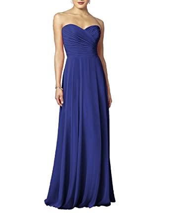 Long Sweetheart Bridesmaid Formal Gown Maxi Dress Evening Dresses For Girls Women Blue 28