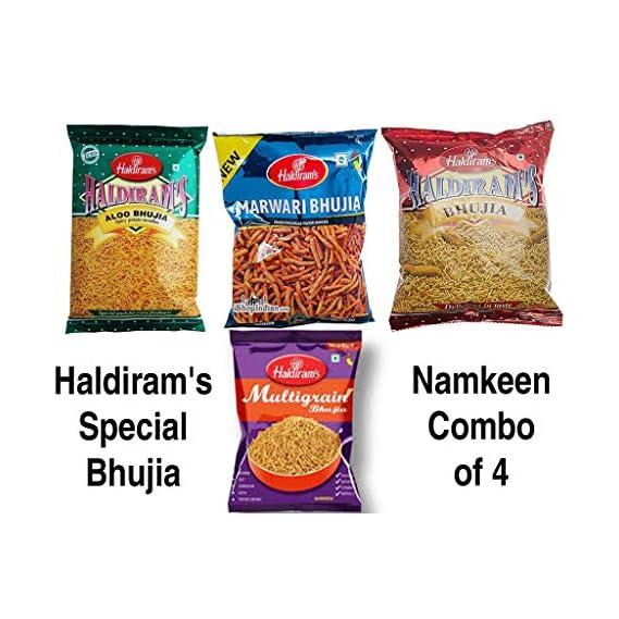 Haldiram's Special Bhujia Namkeen Combo of 4 ( Aloo Bhujia 200gm + Bikaneri Bhujia 200gm + Multigrain Bhujia 200gm + Marwari Bhujia 200gm )