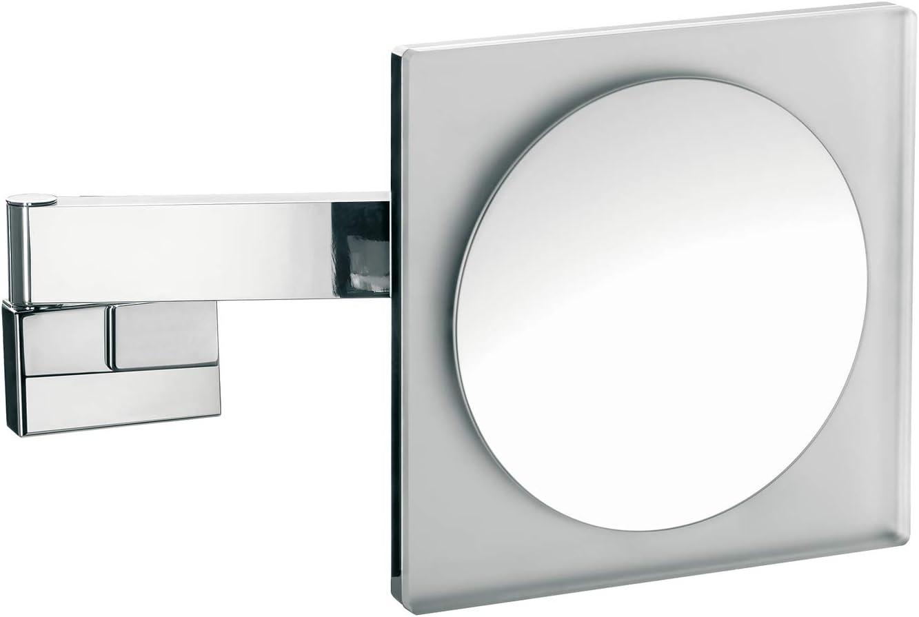Northpoint LED Kosmetikspiegel mit Standfu/ß verstellbarer Farbtemperatur dimmbarem Licht und integriertem Akku Eckig