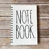 Rae Dunn Spiral Notebook (Journal Diary Office School Notes)