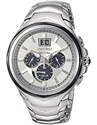Seiko Mens COUTURA CHRONOGRAPH Quartz Stainless Steel Casual Watch, Color:Silver-Toned (Model: SSC627)