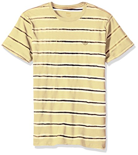 - RVCA Men's Warped Stripe Vintage Wash T-Shirt, Bright Lemon, Large