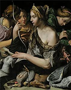 The Cotton Canvas of oil painting 'Abraham Janssens,Diana and Her Companions with Trophies of the Hunt,1609-1612' ,size: 20x25 inch / 51x64 cm ,this High Resolution Art Decorative Prints on Canvas is fit for Bar artwork and Home decoration and Gifts