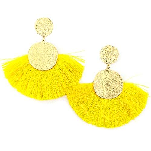 - MeliMe Circle Tassels Earrings, Tassels Pendant Earrings, Designer Tassels Jewelry Making