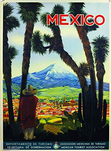 - A SLICE IN TIME Mexico Mountain Village Mexican Spanish Vintage Travel Advertisement Art Collectible Wall Decor Poster Print. Measures 10 x 13.5 inches